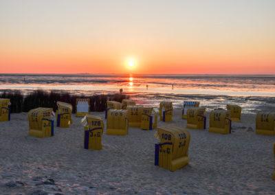 Strand im Sonnenuntergang