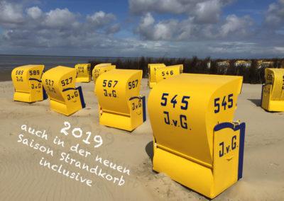 Strandkorb mit Text 2019